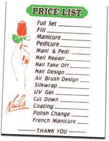 acrylic nail price list - Google Search