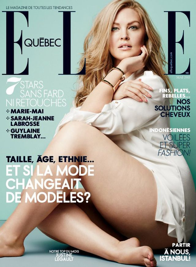 fashion show  2013 plus size | Fashion Foie Gras: Elle Quebec features an American plus size model on ...