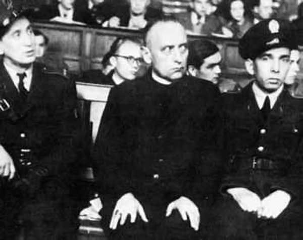 "1949-Joseph Cardinal Mindszenty, the highest Catholic official in Hungary, is convicted of treason and sentenced to life imprisonment by the Communist People's Court. Outraged observers in Western Europe and the United States condemned both the trial and Mindszenty's conviction as ""perversions"" and ""lynchings."""