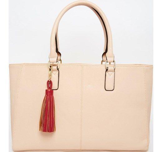 ASOS - Maxi borsa con nappa removibile - Color carne asos giallo Sintetico