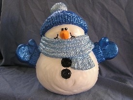 Ceramic Snowman..  I have made several of these.  So adorable..