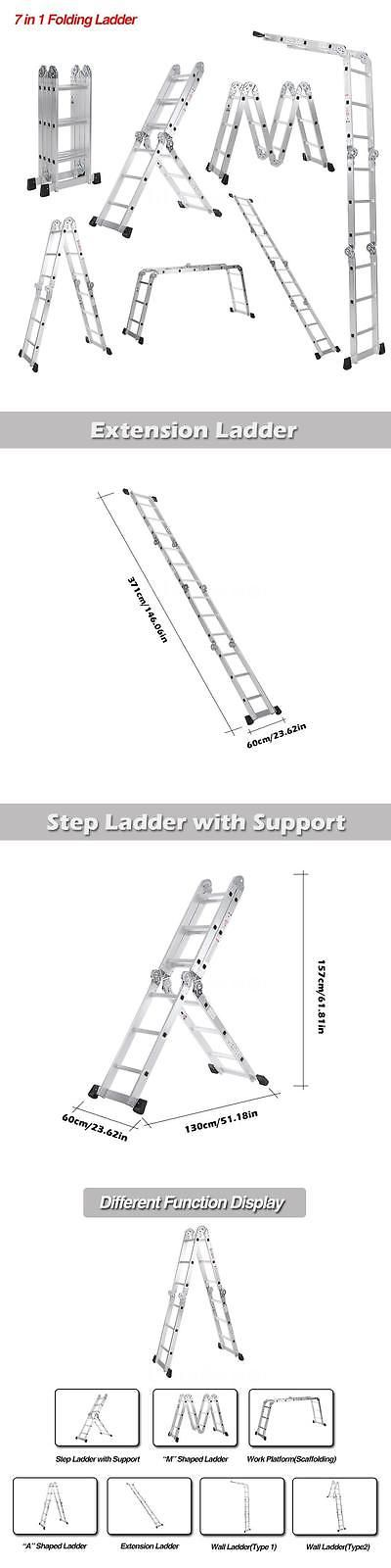Ladders 112567: 12.5Ft 7 In 1 Step Ladder Scaffold Aluminum Extension Ladder Work Platform X3b0 -> BUY IT NOW ONLY: $69.92 on eBay!