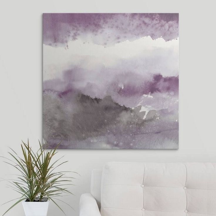 Modern Grey And Purpleliving Room