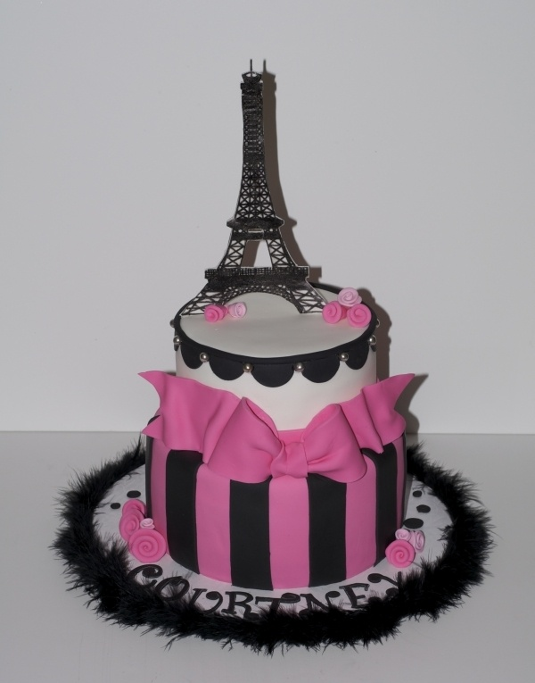 Best Paris Cake Images On Pinterest Paris Party Biscuits And - Birthday cake paris france