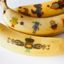 These bananas were born to be wiiiiild.  (Surprise your loved one with a decorated fruity treat.)