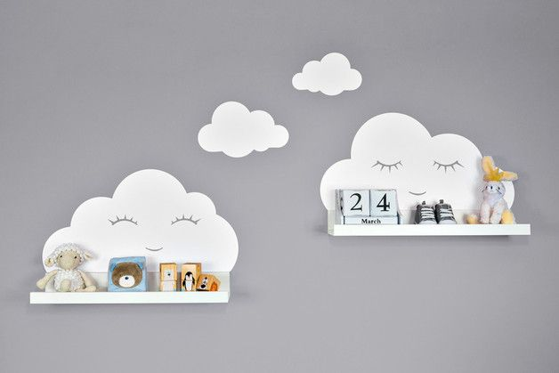 Wandtattoo Kinderzimmer weiße Wolken Augen IKEA – Wandtattoos – Wohnaccessoires – Mit Liebe handgemacht in Berlin, Deutschland von Baby Shower Babypa…
