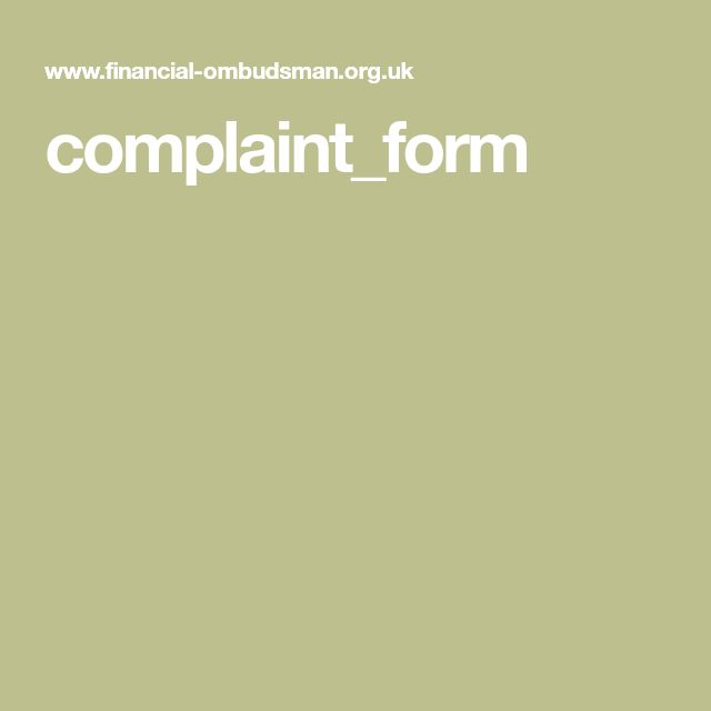 financial ombudsman complaint form fairyvaultradio