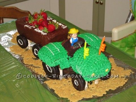 Coolest Mow Mow Tractor Cake