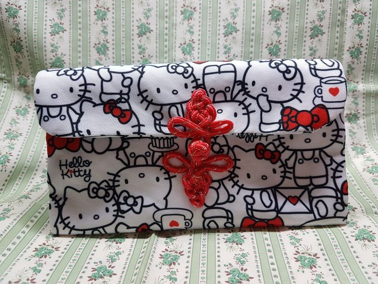 A cute Hello Kitty CNY Ang Pow  organiser purse completed...entirely handstitched