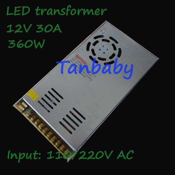 Tanbaby 360 Вт переключение привело трансформаторные входной сигнал 110/220 В до 12 В 30A вело водителя закрытый для led полосы света гарантия 2 года