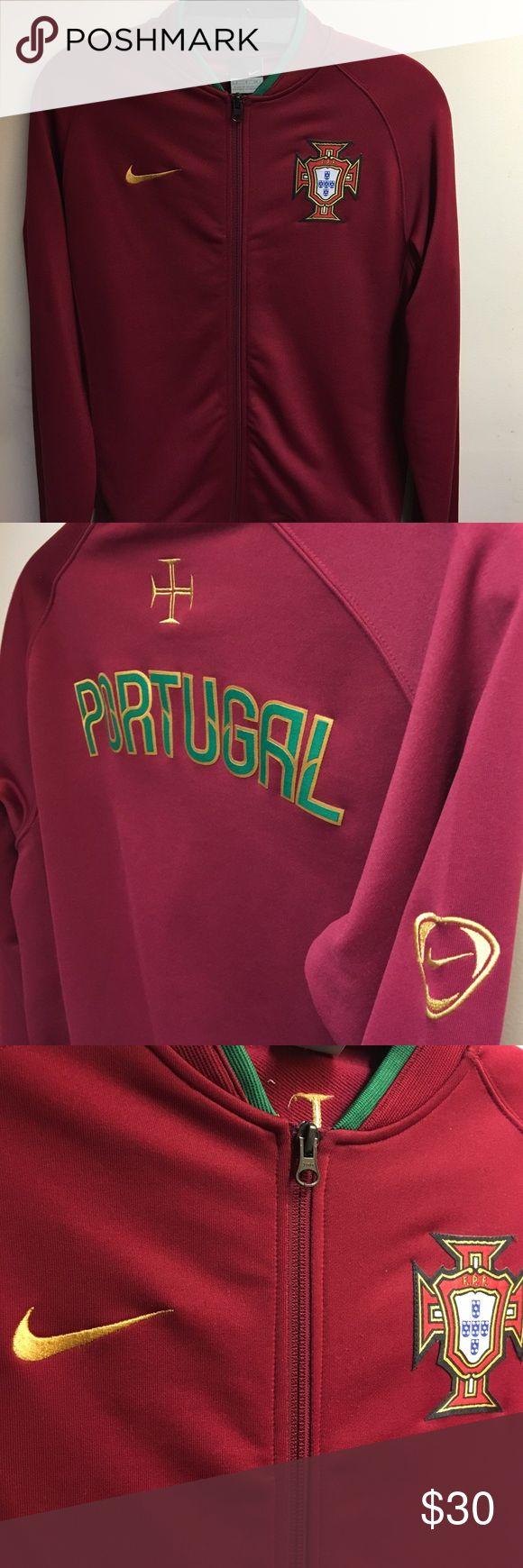 Nike Portugal jacket Burgundy Nike Portugal soccer team warm up jacket Nike Jackets & Coats Performance Jackets