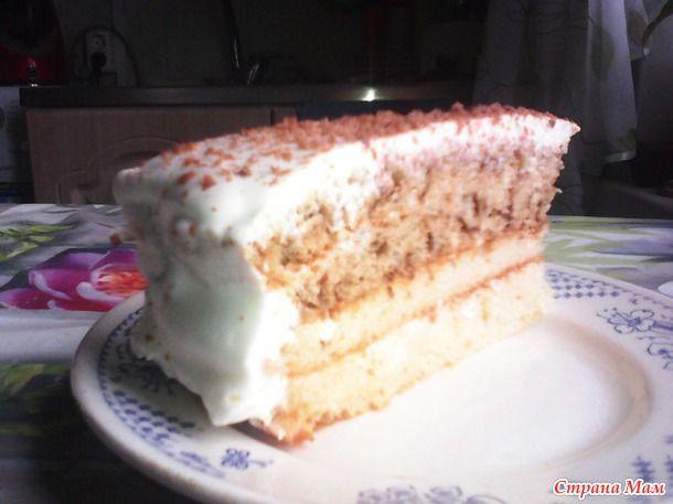 """В интернете давно ходит рецепт : быстрый торт """" Мечта занятой женщины"""". С этим рецептом меня познакомила моя подруга. Вот и я теперь пеку его по любому случаю. Очень вкусный, сытный торт. Мои дом…"""