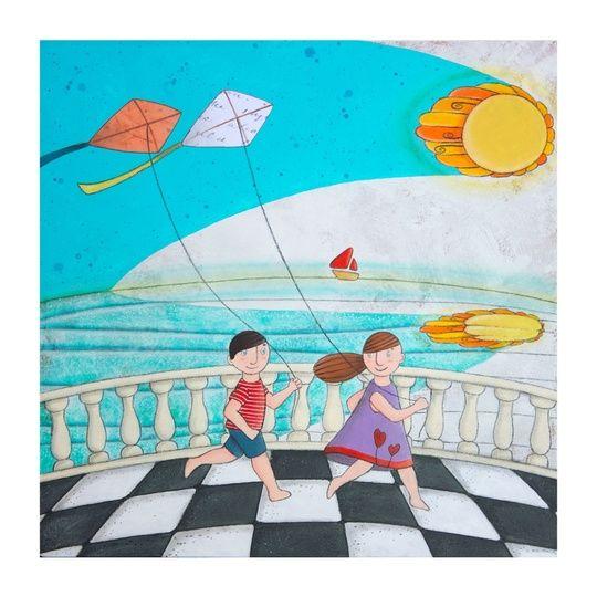 """""Tingi di Giorno Sole!"" ""Paint of Day Sun"""" by cinzia mazzoni on #INPRNT - #illustration #print #poster #art"