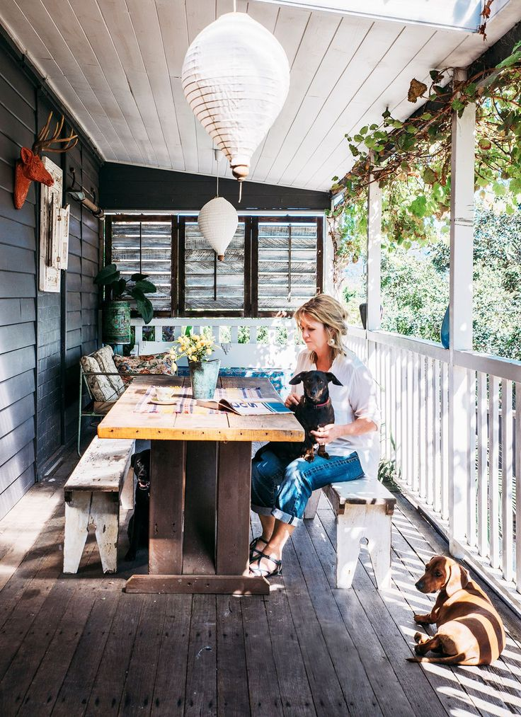 """""""We have a north-facing, covered verandah that we use all year round"""" says Janice."""