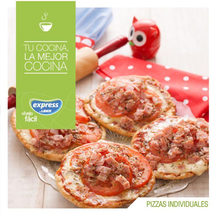 Pizzas individuales. #Recetario #Receta #RecetarioExpress #Lider #Food #Foodporn