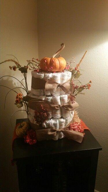 Fall Baby Shower Little Pumpkin Diaper Cake Events