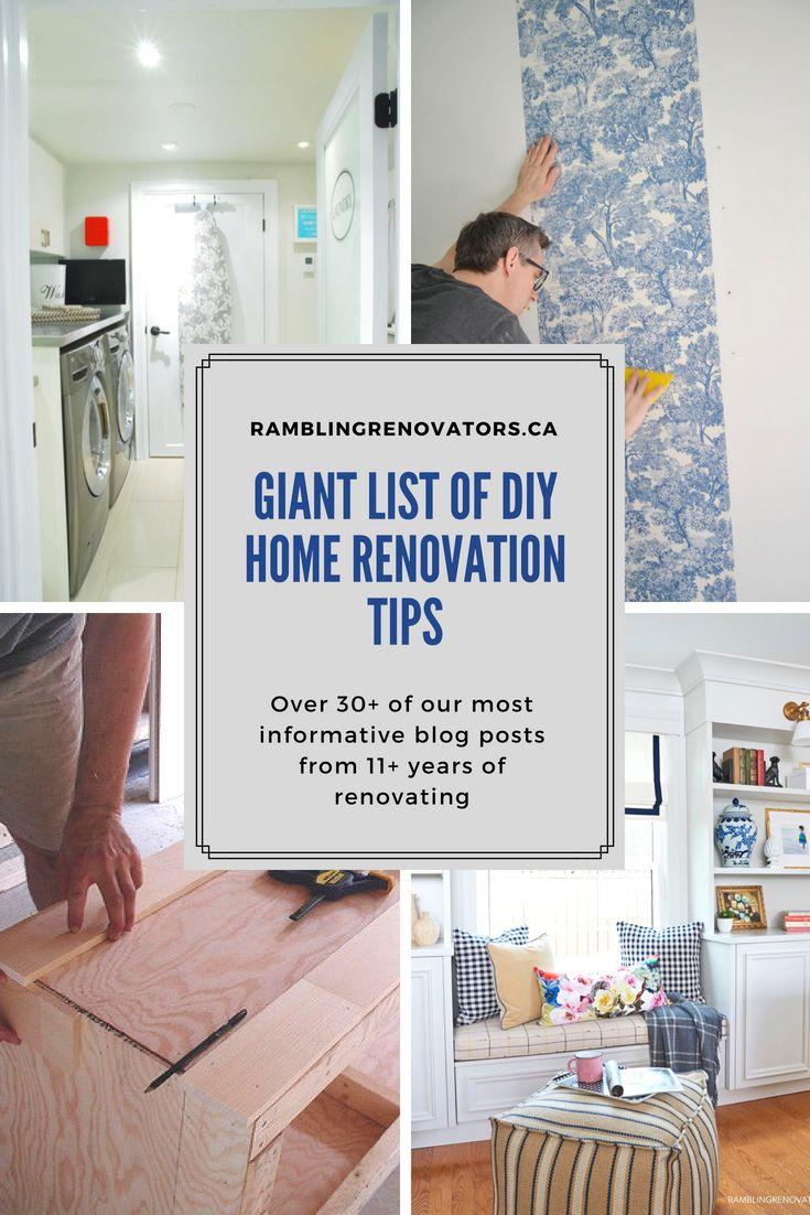 A giant list of diy home renovation tips diy idear diy home