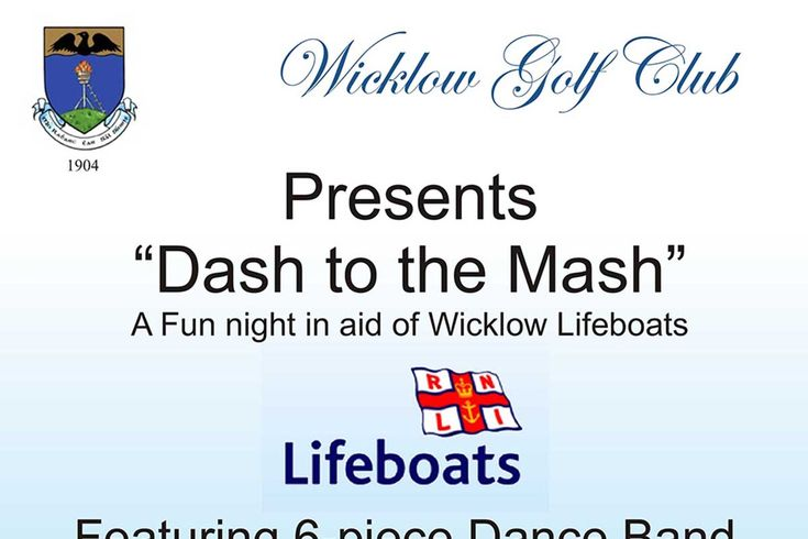 Dash to the Mash fun night in aid of Wicklow Lifeboats
