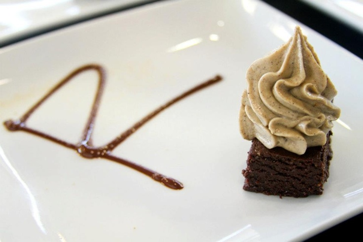 RAW mexican chocolate cupcake w/ habanero macadamia frosting