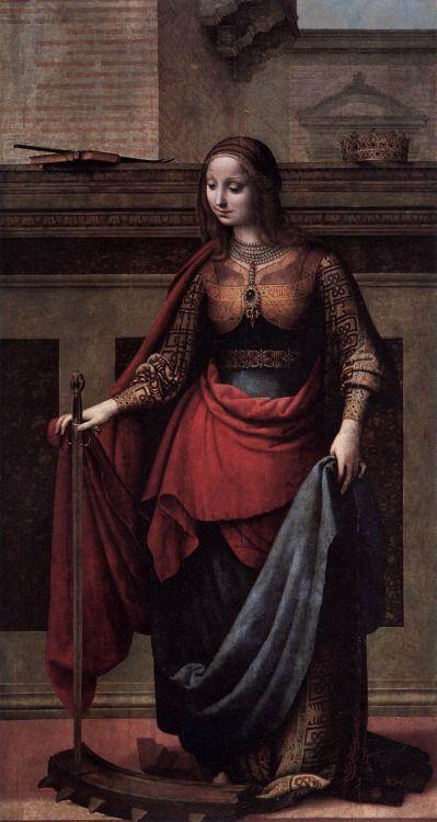 ÑEZ DE LA ALMEDINA, FernandoSaint Catherine1505-10Oil on canvas, 212 x 112 cmMuseo del Prado, Madrid