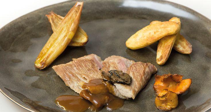 Iberico Secreto met Ratte aardappel en truffel   Dolce world