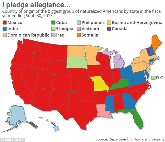 Mapped Out This Map Of America Shows The Largest Immigrant Group In Each State