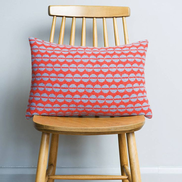 Brighten up your home with this fresh contemporary knitted cushion, sure to add an individual touch to any room.