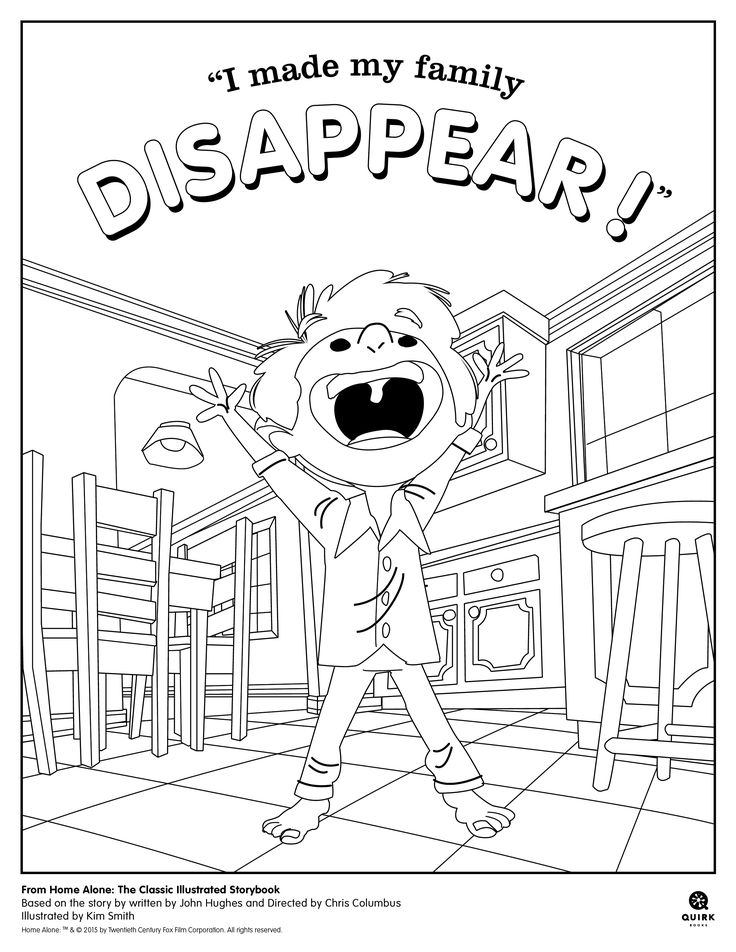 #Coloring page from Quirk Books' Home Alone  #homealone #book #kids