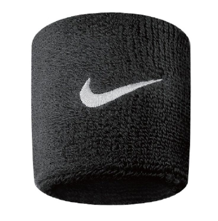Nike Swoosh Wristbands (Black/White, Osfm). Nike Swoosh Wristbands. Embroidered Swoosh logo. Sold in pairs. Machine washable / Easy care. Width: 3 inches/7.62 cm.