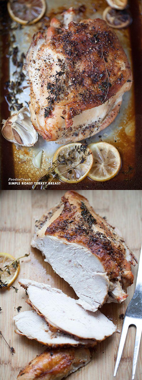 The secrets to a never-fail Juicy Roast Turkey Breast | foodiecrush.com