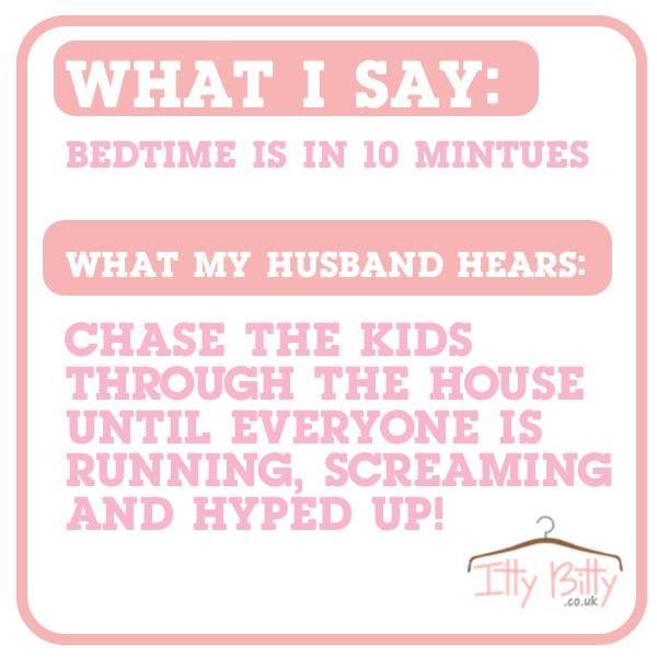 We love this! Please Comment & Share as we love to hear your little stories x x x View our website: https://www.ittybitty.co.uk/ PayPal or Credit/Debit card Secure website international shipping #husband #wife #married #kids #parenting #bedtime #funny
