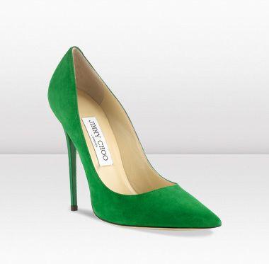 ANOUK £375.00 Emerald Suede Pointy Toe Pumps jimmy choo