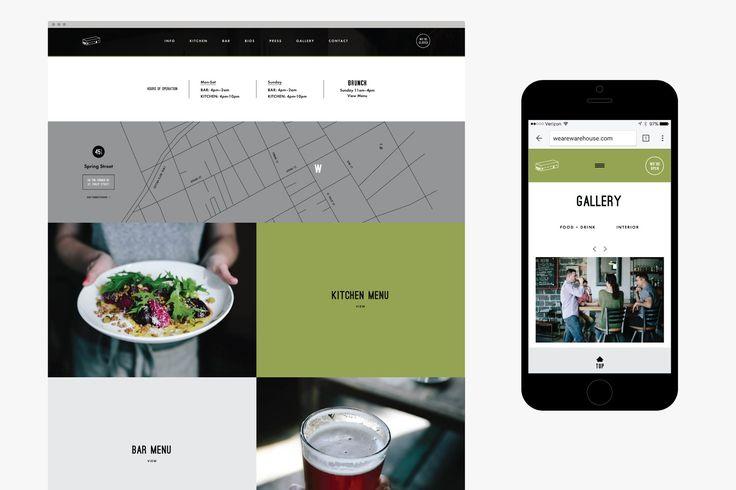 Warehouse Brand Refresh, Menu, Website, & Photography – Saturday Studio