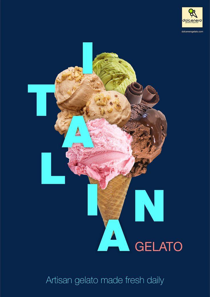 Diseño de carteles de helados en Behance   – Design : Graphic // Branding // Tutorial // Packaging