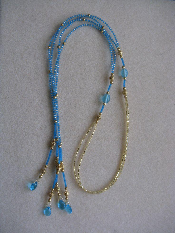 Short lariat necklace - own design