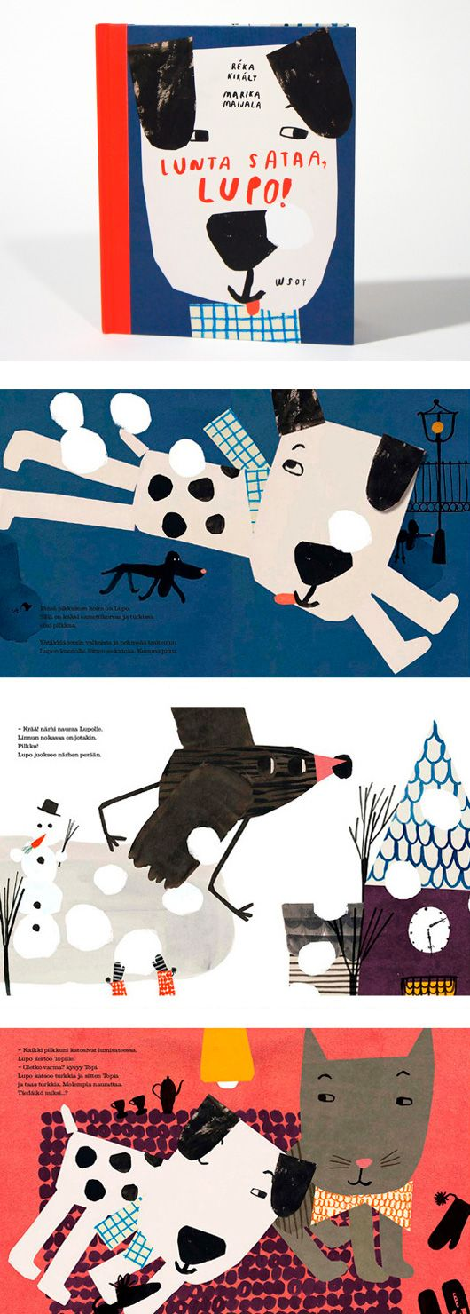 It's snowing, Lupo! - RÉKA KIRÁLY / graphic design and illustration
