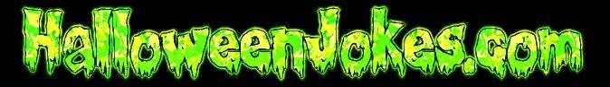 Green Slime Halloween Jokes dot com Style banner