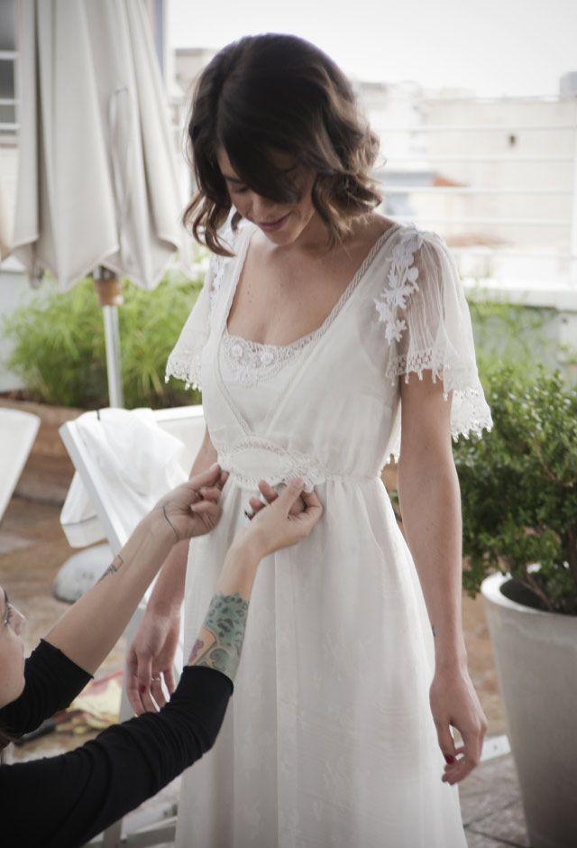 La boda de Lucía con un vestido de Marcela Mansergas © Rafael Trapiello