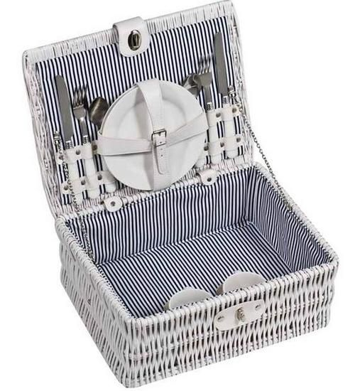 Wicker Picnic Basket for 2