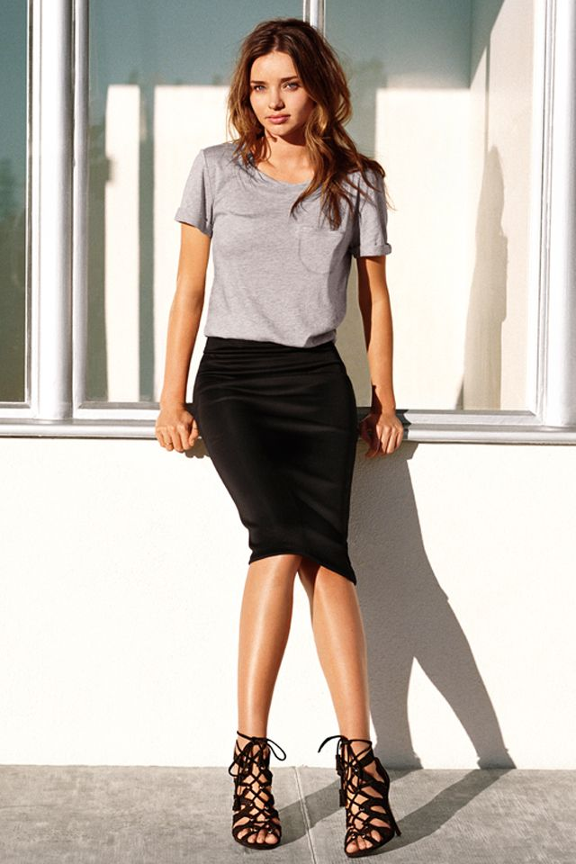 The 25  best Black pencil skirt outfit ideas on Pinterest | Fitted ...