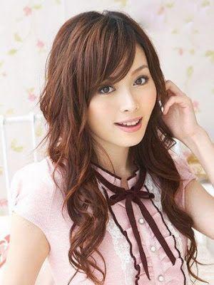 Peinados a la Moda: Peinados con flequillo para mujeres Asiáticas - 2013