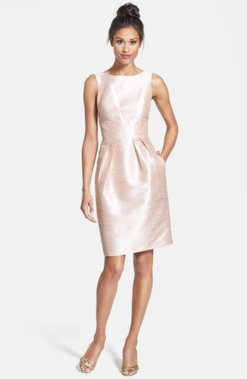 Alfred Sung Boatneck Sheath Dress available at #Nordstrom bridesmaid $180