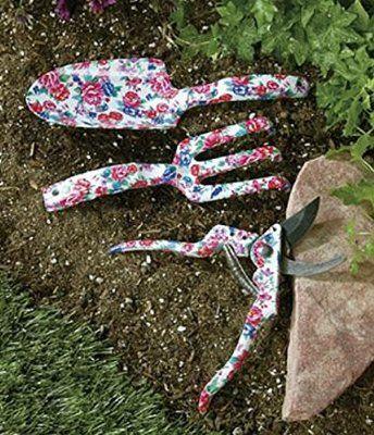 Home-X® Floral Garden Tools. Pruning Shears, Trowel Shovel or Cultivator Rake (Shovel)