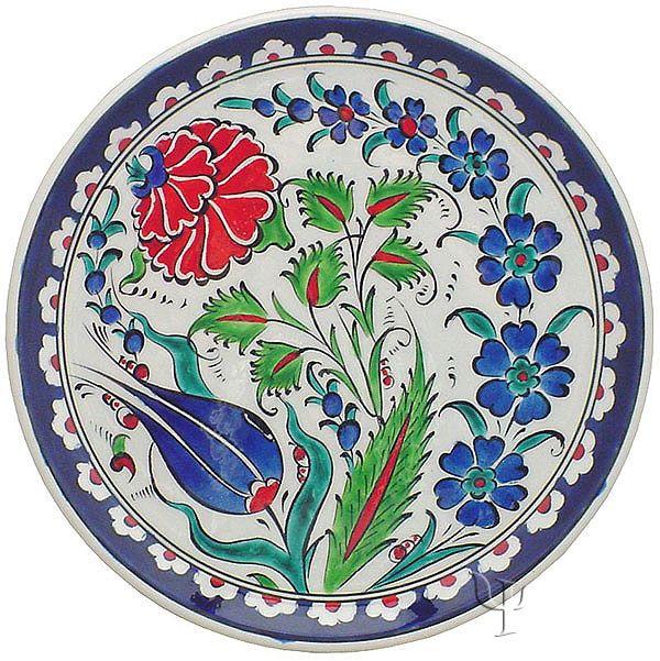 Iznik Design Ceramic Plate - Naturel Garden  sc 1 st  Pinterest & 455 best :: Turkish Pottery u0026 Ceramics images on Pinterest | Dish ...