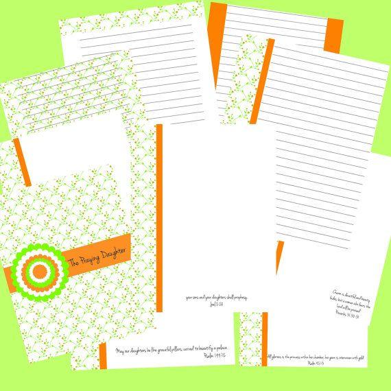 the praying daughter prayer journal printable by thesimplebin