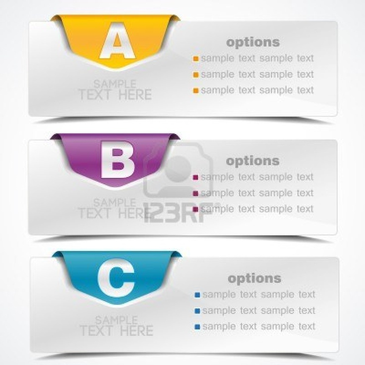 banner on the product description and more options Stock Photo - 14398389