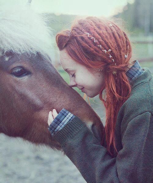 Dreadlocks. girl with horse :: Shop DreadStop.Com for Premium Leather Dread Cuff #dreadstop