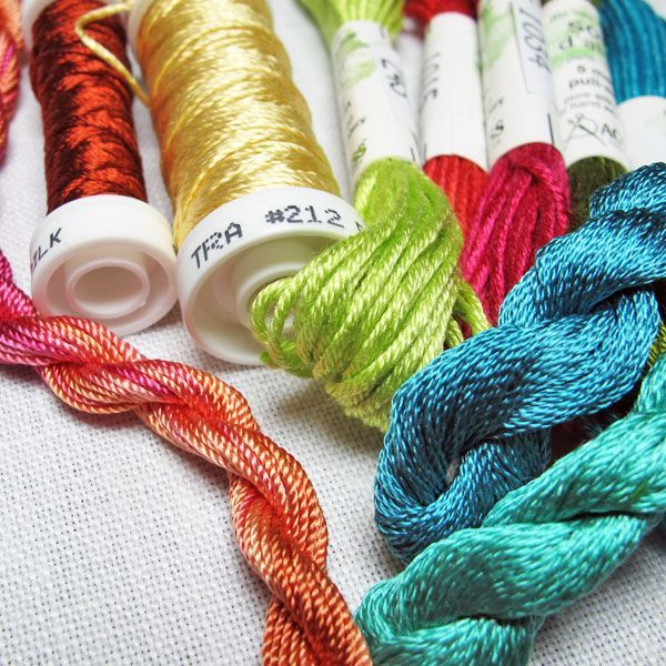 Threads help add dimension and texture to embroidery. Explore cotton, silk and wool fibers that will make your next piece pop!