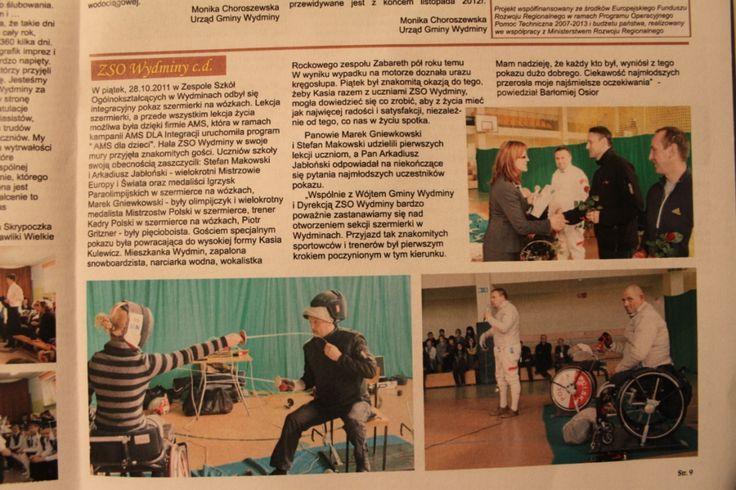 O AMS dla Integracji w Kurierze Wydmińskim (listopad 2011) / About AMS for Integration in Kurier Wydmiński (November 2011)