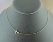 Cute cross necklace.